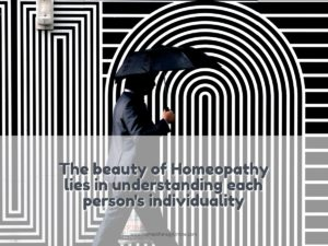 Homeopathy lies in individuality.homeotherapyonline